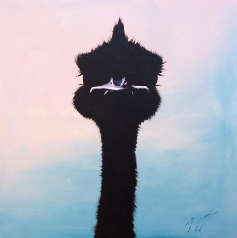 Miami Ostrich, 48x48