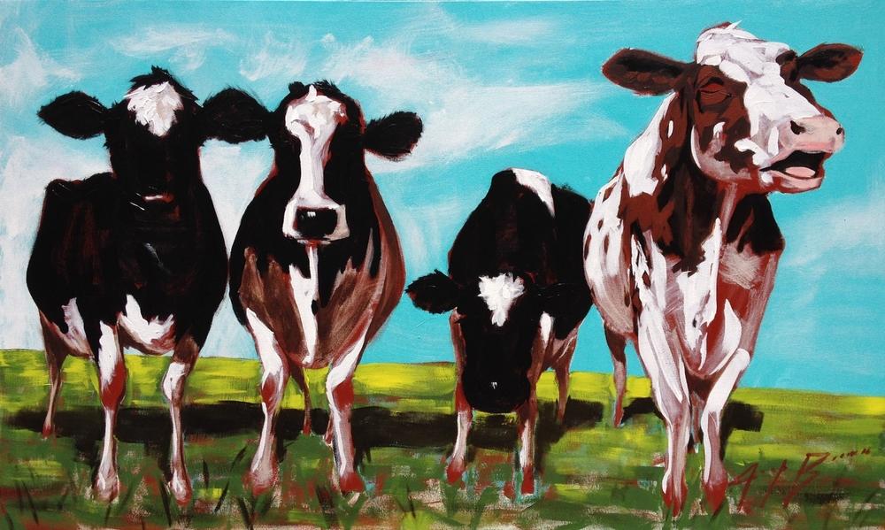 Four Cow, 36x60