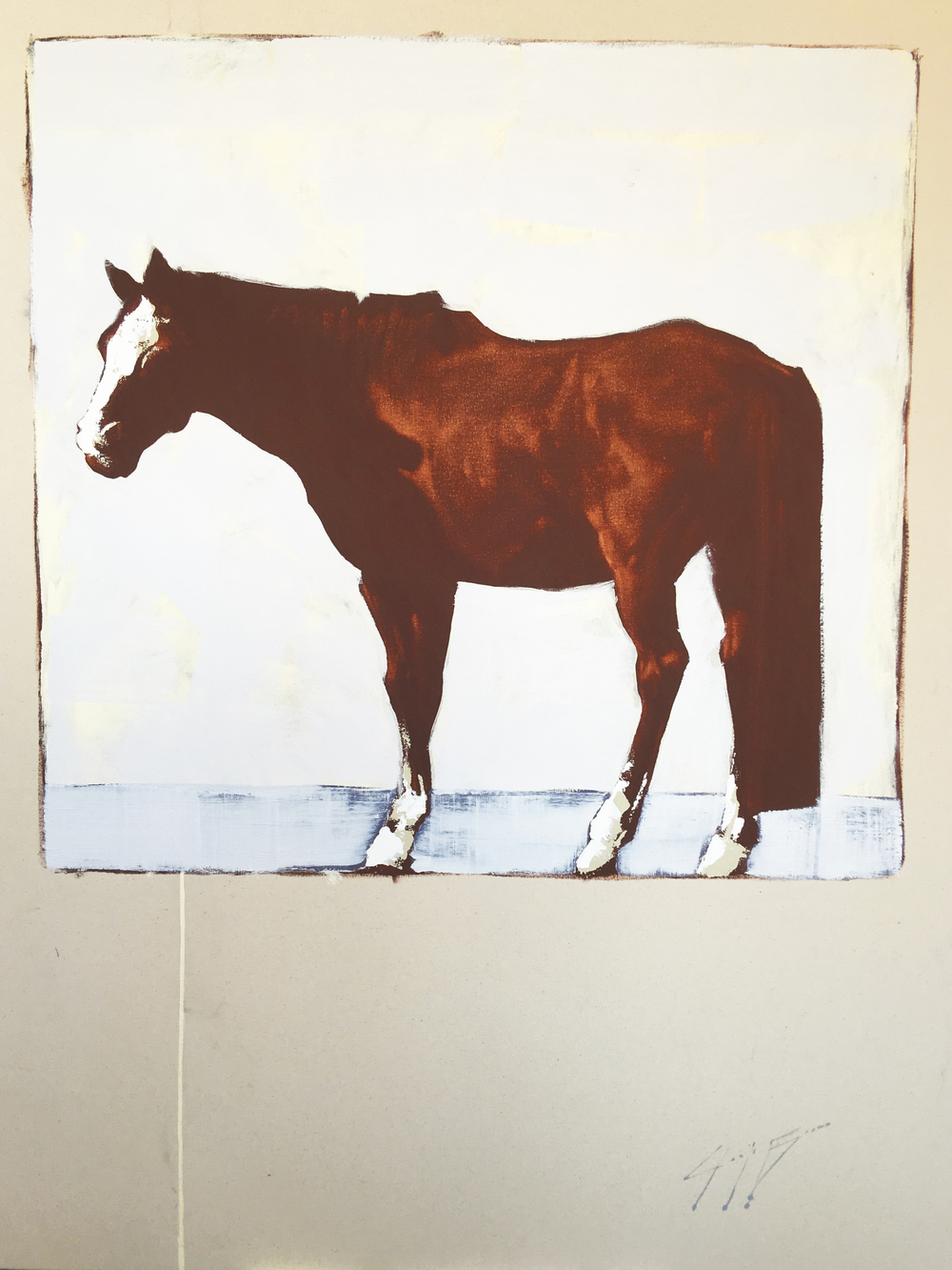 Standing Horse #2, 48x60