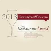 BirminghamWine.com names Nabeel Cafe a recipient of the Wine Restaurant Awards 2013-2014