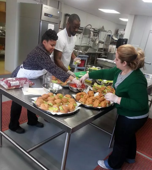 Catering provides hands on learning for Project I CAN interns.