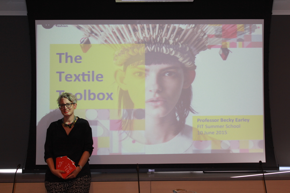 Sass Brown's FIT Summer School. My talk about The Textile Toolbox and using The TEN to redesign products, and also open minds...