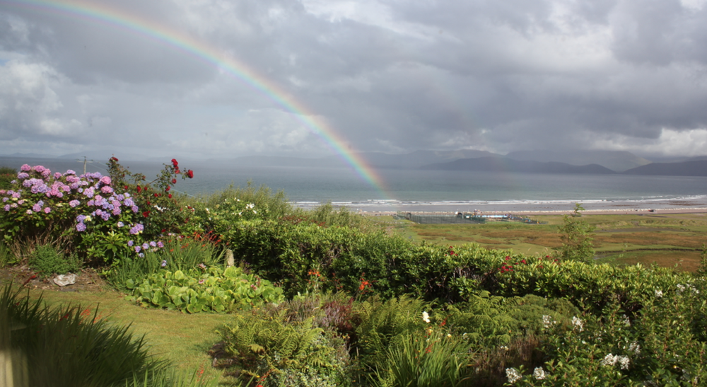 Morning rainbow over Glenbeigh in Kerry. (I kid you not, this was the view from the sofa in the borrowed house where I sat each day and darned socks… Thanks Ed & Aoife xx)