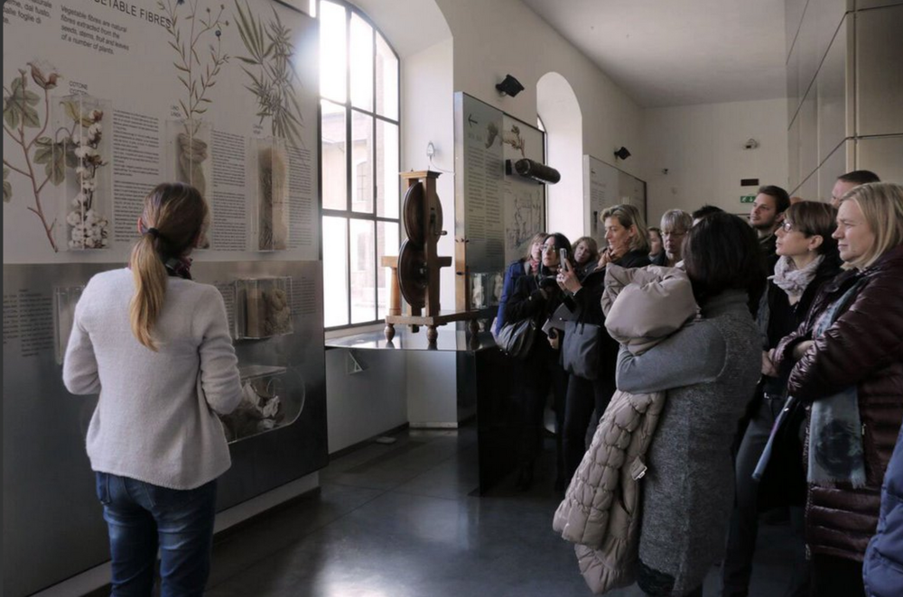 T2C consortium researchers on a guided tour, Prato Textile Museum, November 2015