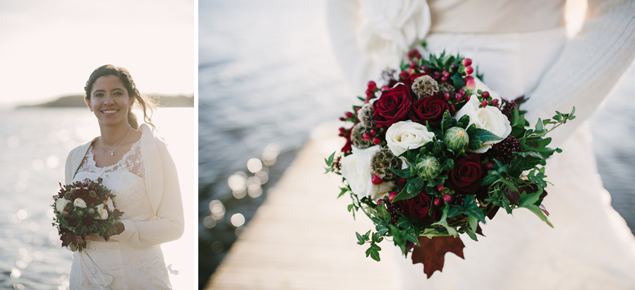 Höst Sjö Bröllop