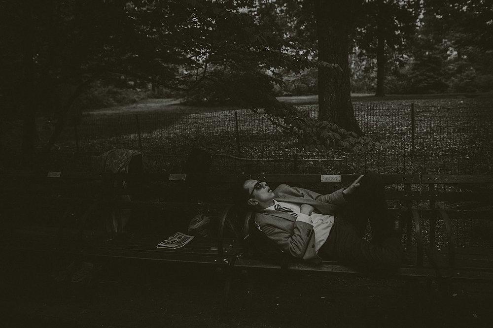 Sovande man Central Park