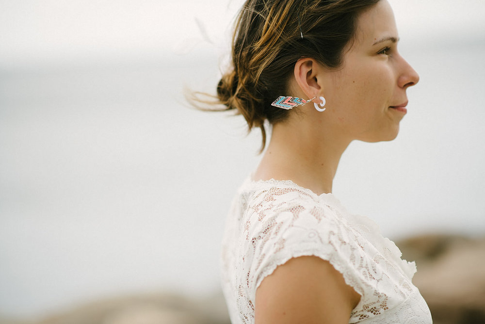 bride and earring