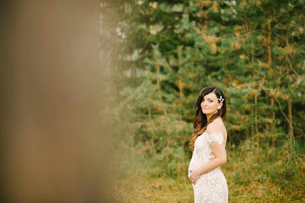 Gravid brud bröllop