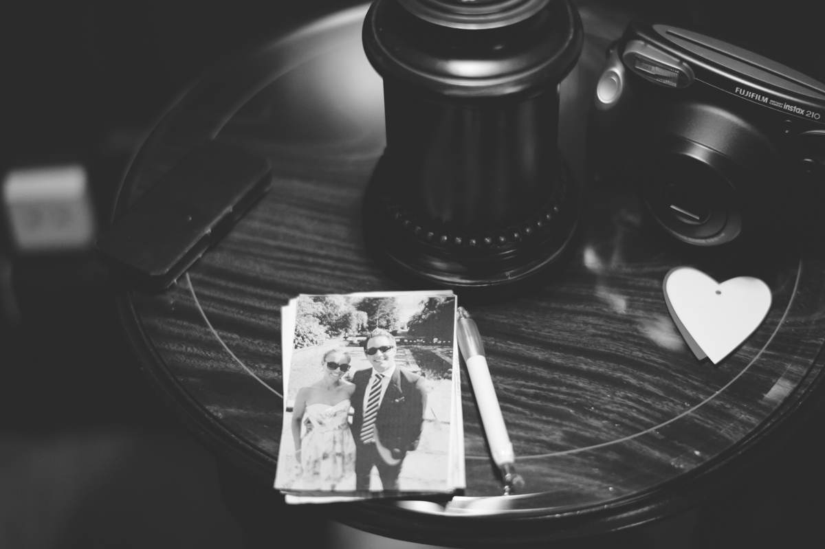 Polaroid kamera bröllop
