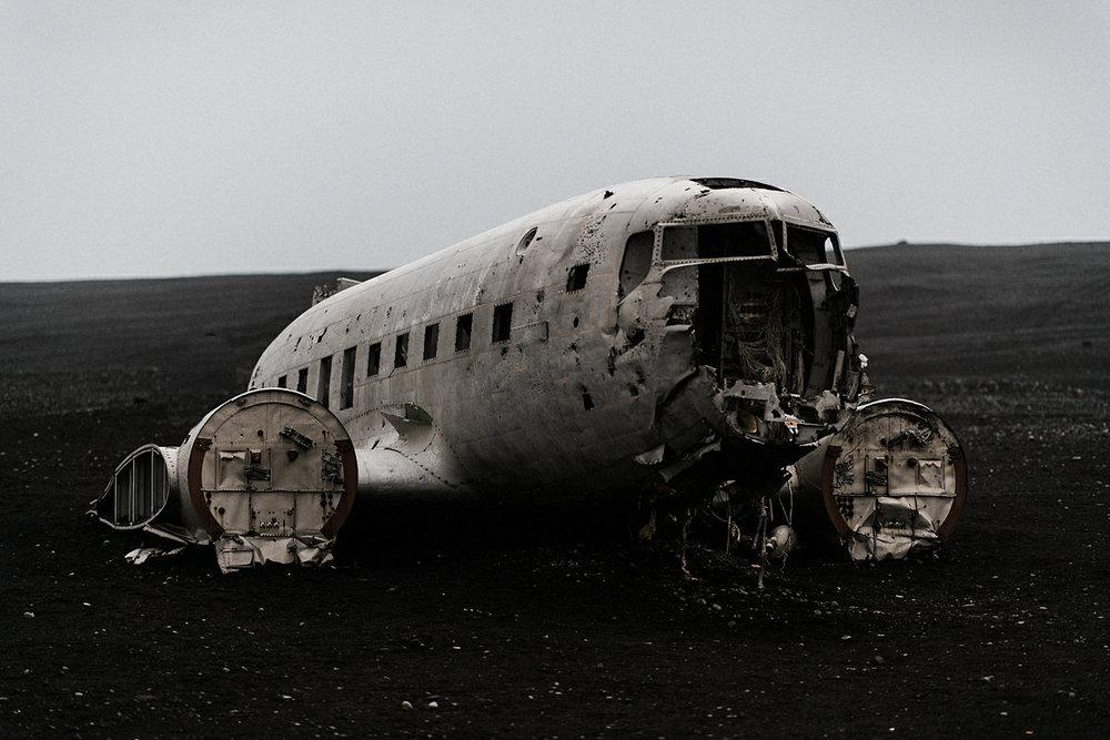 Crashed plane Iceland