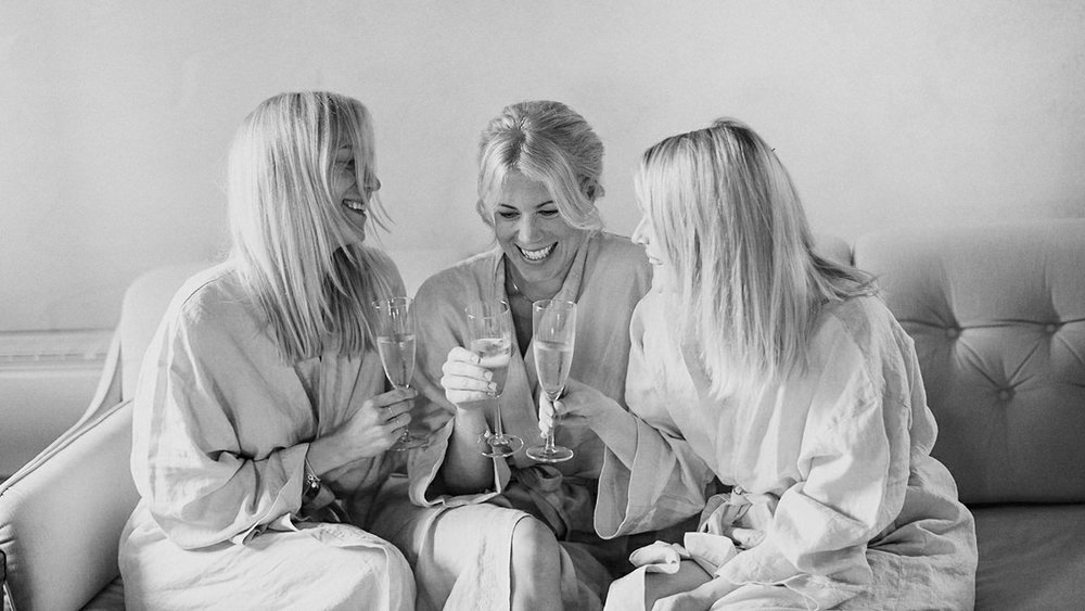 Girls having a drink