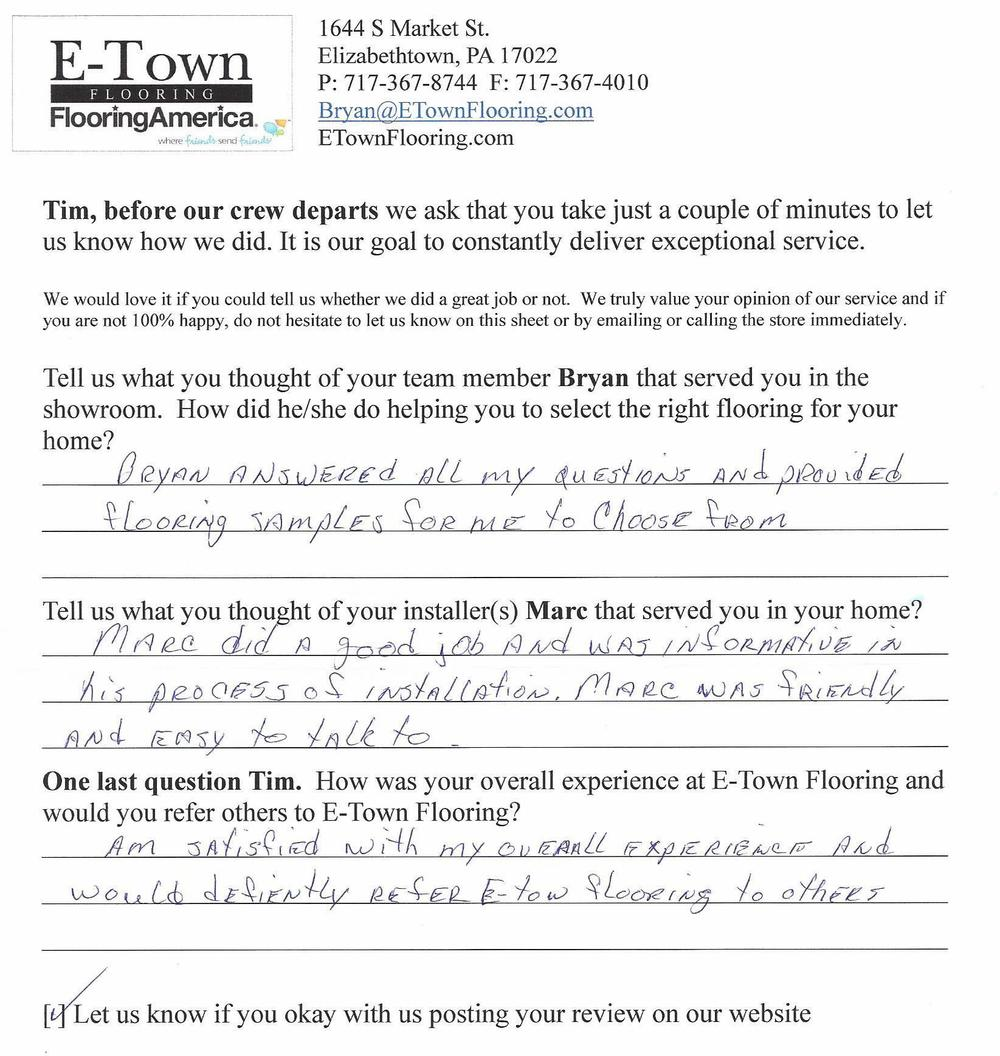 Flooring Review - Tim from Elizabethtown.jpg