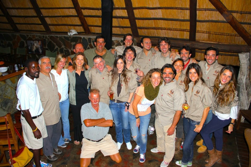 Dental team dinner with our incredible host, Mark Butcher, from Imvelo Safari Lodges.  Without the generosity of Mark, Diego and Sergio, this would never be possible.  Thank you to another fantastic year, Sonrisas para Zimbabwe!