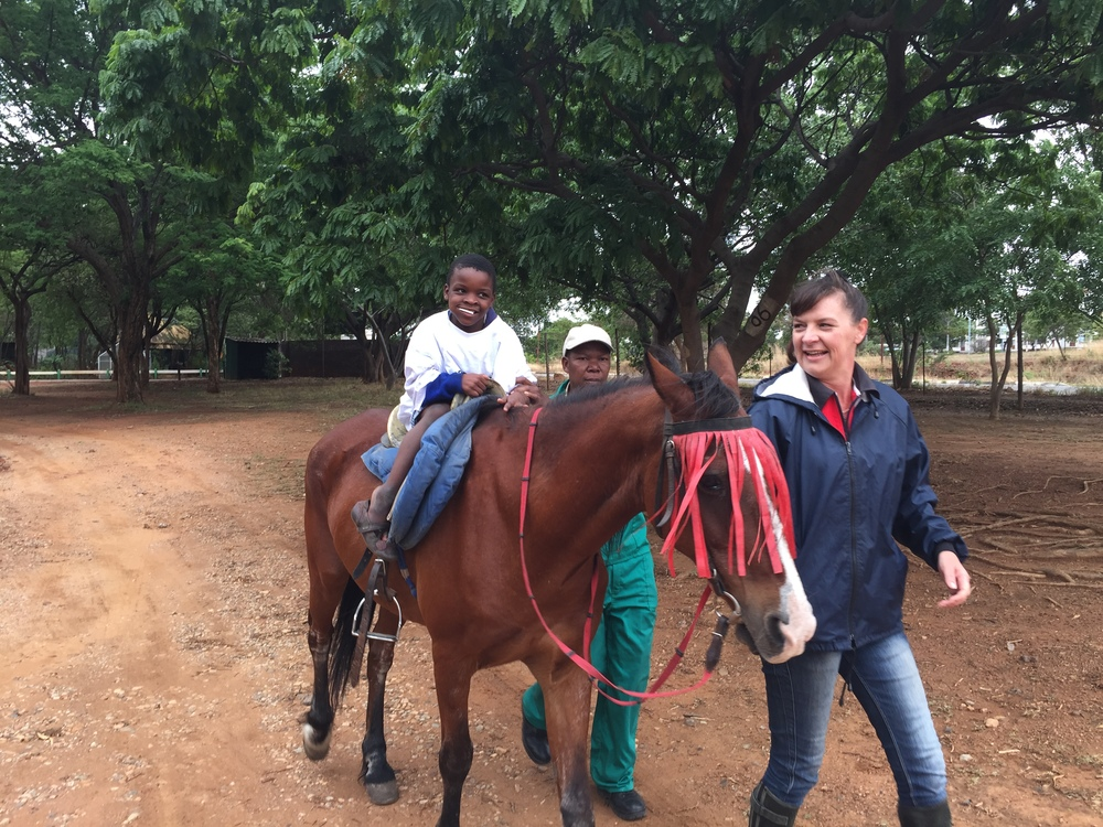 Over 100 children participated in equestrian therapy thanks to our specialist volunteer.
