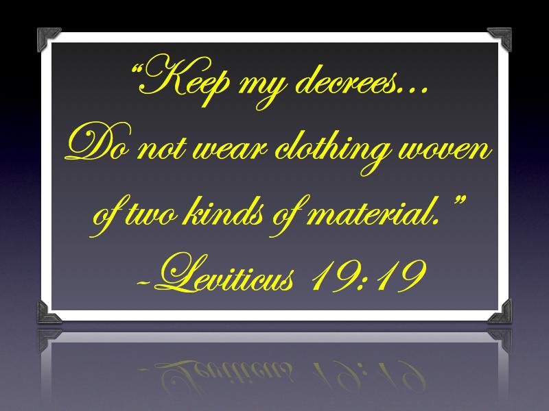 Leviticus 19:19