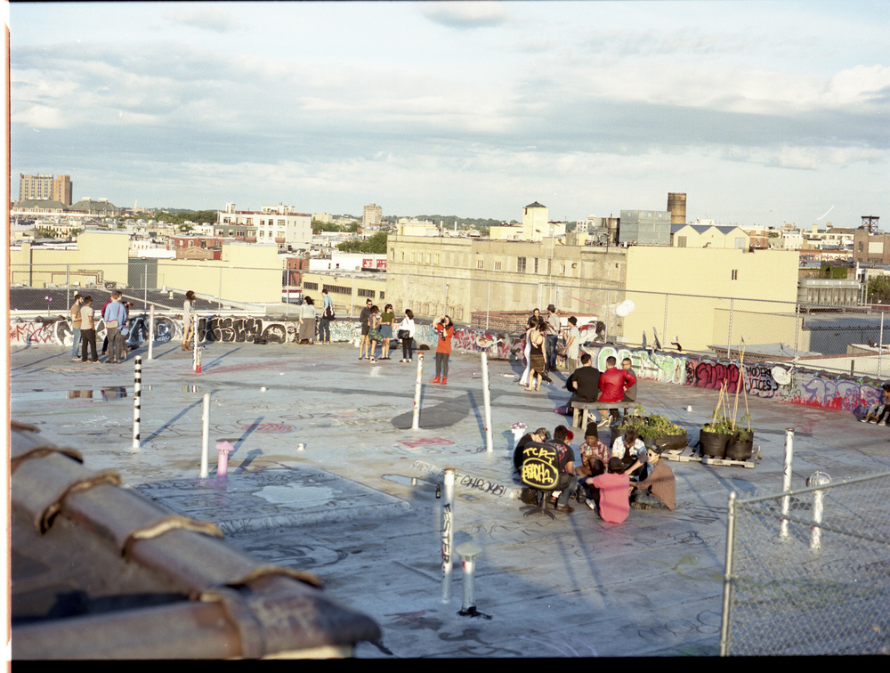 A typical saturday on the roof.