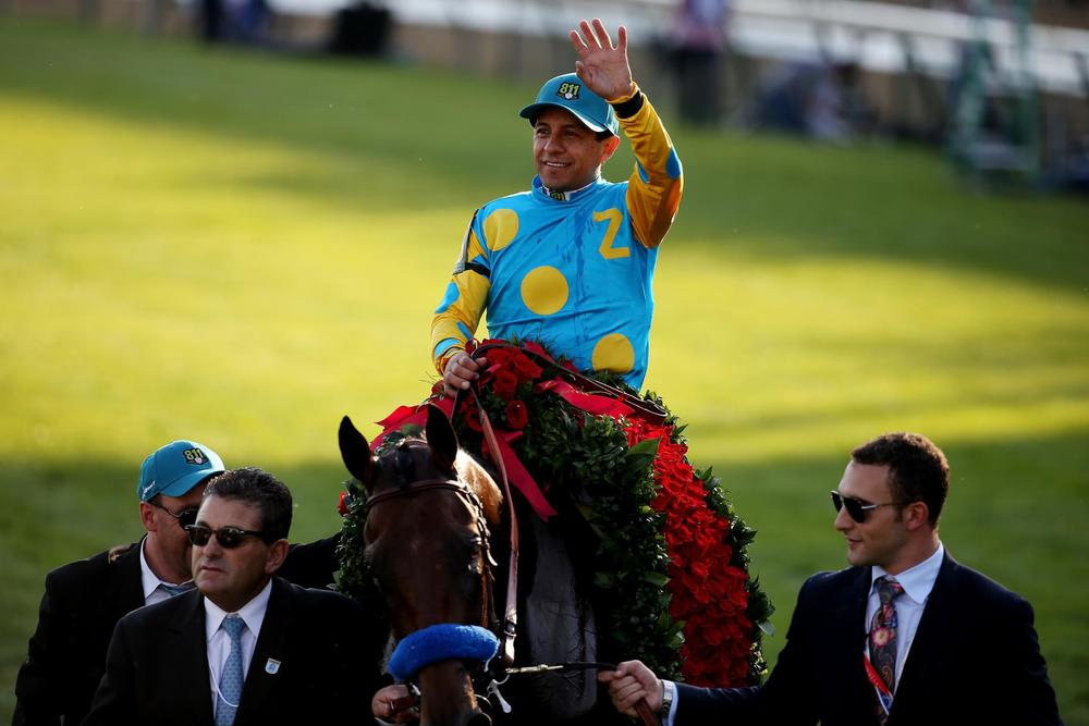 American Pharoah  wins the Triple Crown  Source:  http://bleacherreport.com/articles/2451828-2015-kentucky-derby-winner-assessing-american-pharoahs-triple-crown-chances