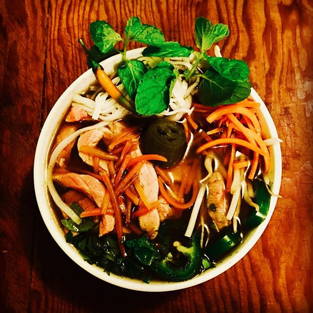 Made some Pho using broth from Chef Joe. So good! @josephvhafner