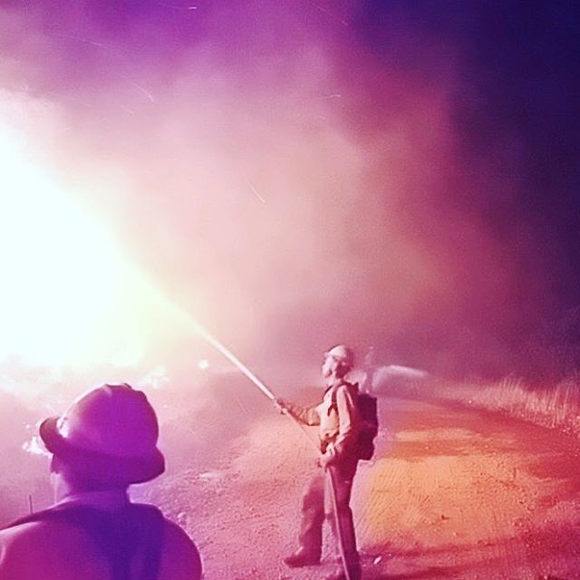 Cousin Brad working the fire. #thomasfire