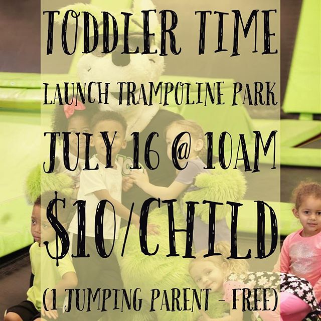 Toddler time is Saturday for ages 5 and under at Launch Trampoline Park. Meet up with some of our families and enjoy a special time together! #fusionfamily #fusionminis