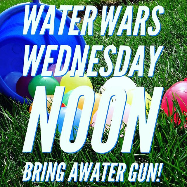 Lunch will be provided. Bring a water gun, if you have one. The fun starts at noon! You don't want to miss it! #fusionfamily #waterwars