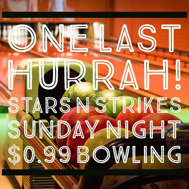 Join us at Stars and Strikes for one final event with Andrew and Joy. Sunday night after services. #fusionfamily