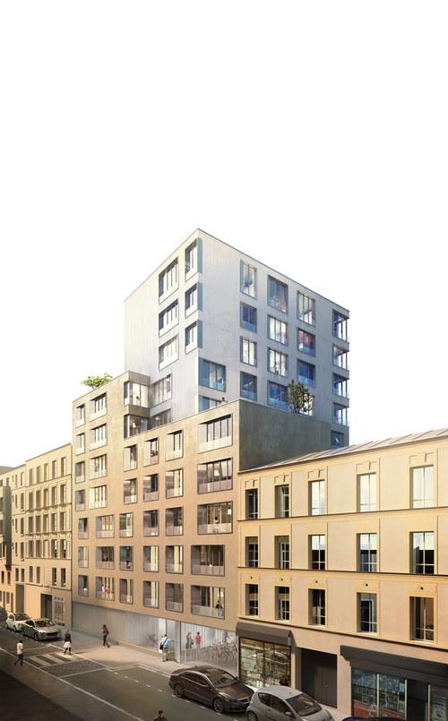 """Fond uni blanc     Il permet une lecture nette du bâtiment qui se détache parfaitement, ainsi qu'une perception des couleurs sans """"pollution"""""""