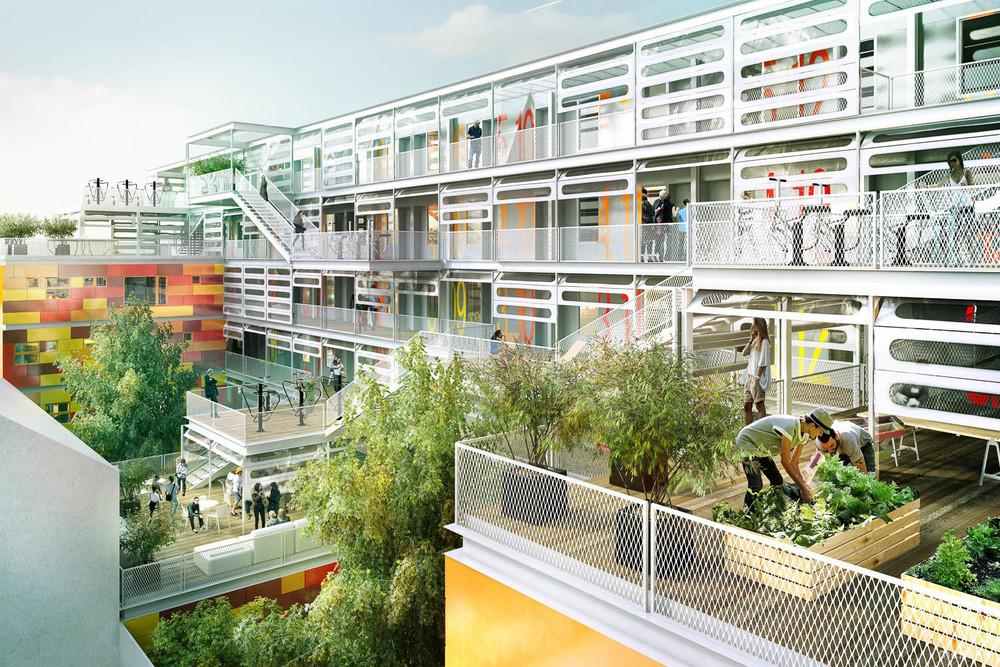 Rendu 3D perspective architecture concours
