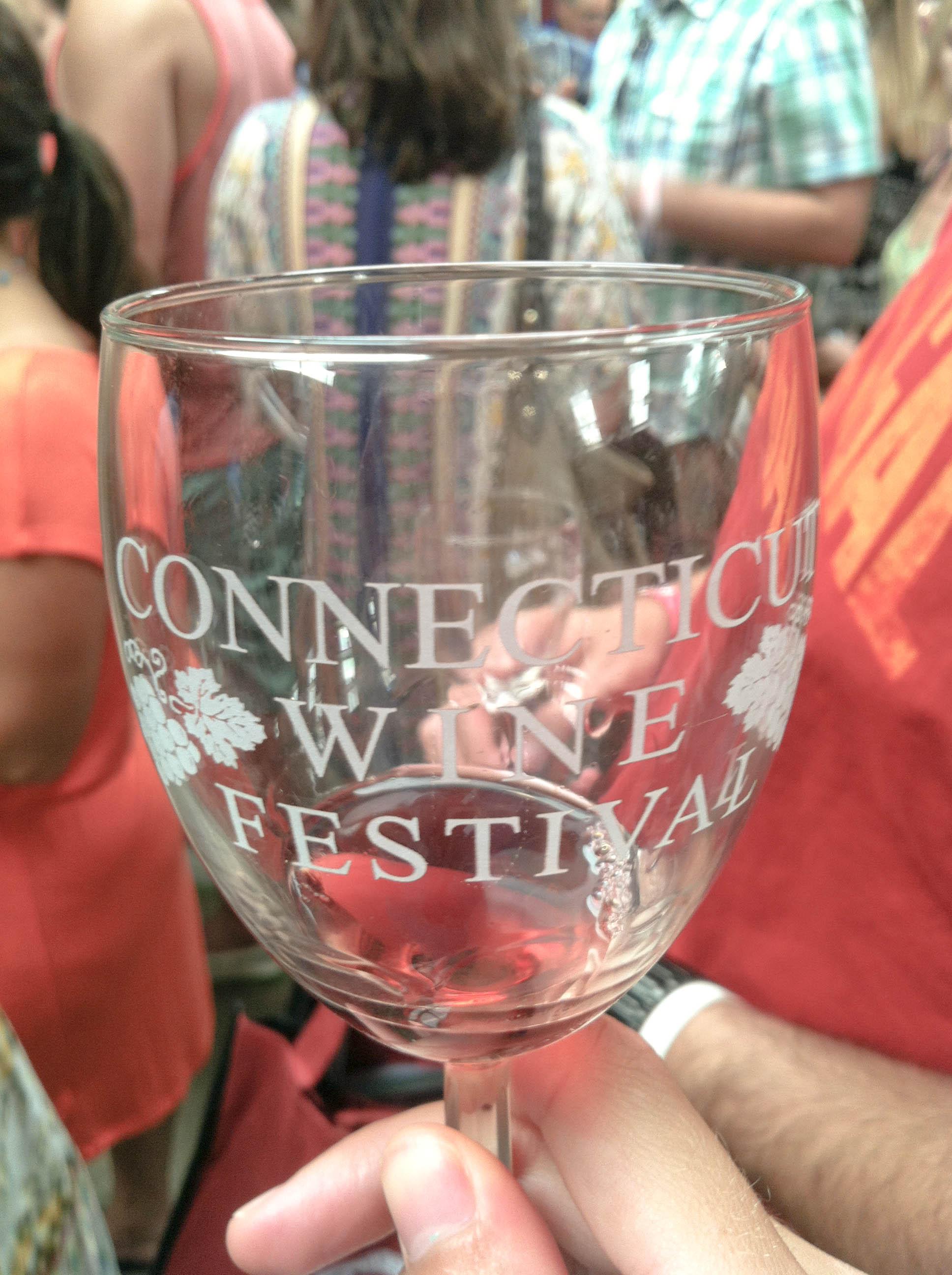 Conn Wine Festival glass
