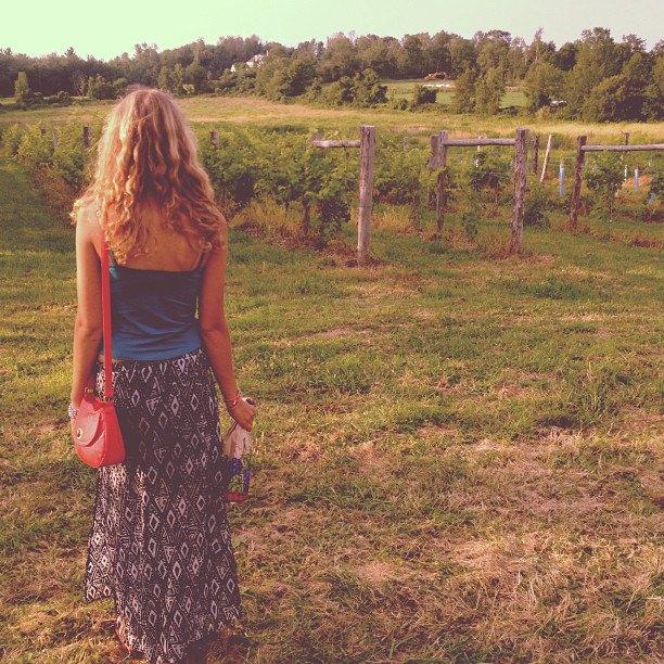 sarah at vineyard