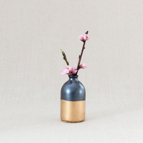 Black Gold Minimalist Bud Vase The Safari Collective