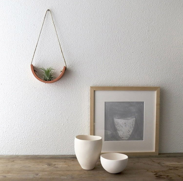 Small Terracotta Hanging Air Plant Cradle   $28.00