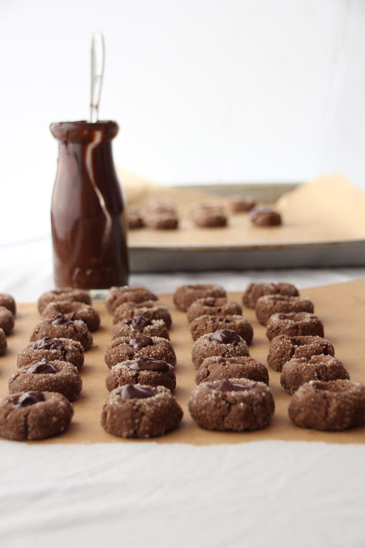 Chocolate Thumbprint Cookies // Sweet Talk