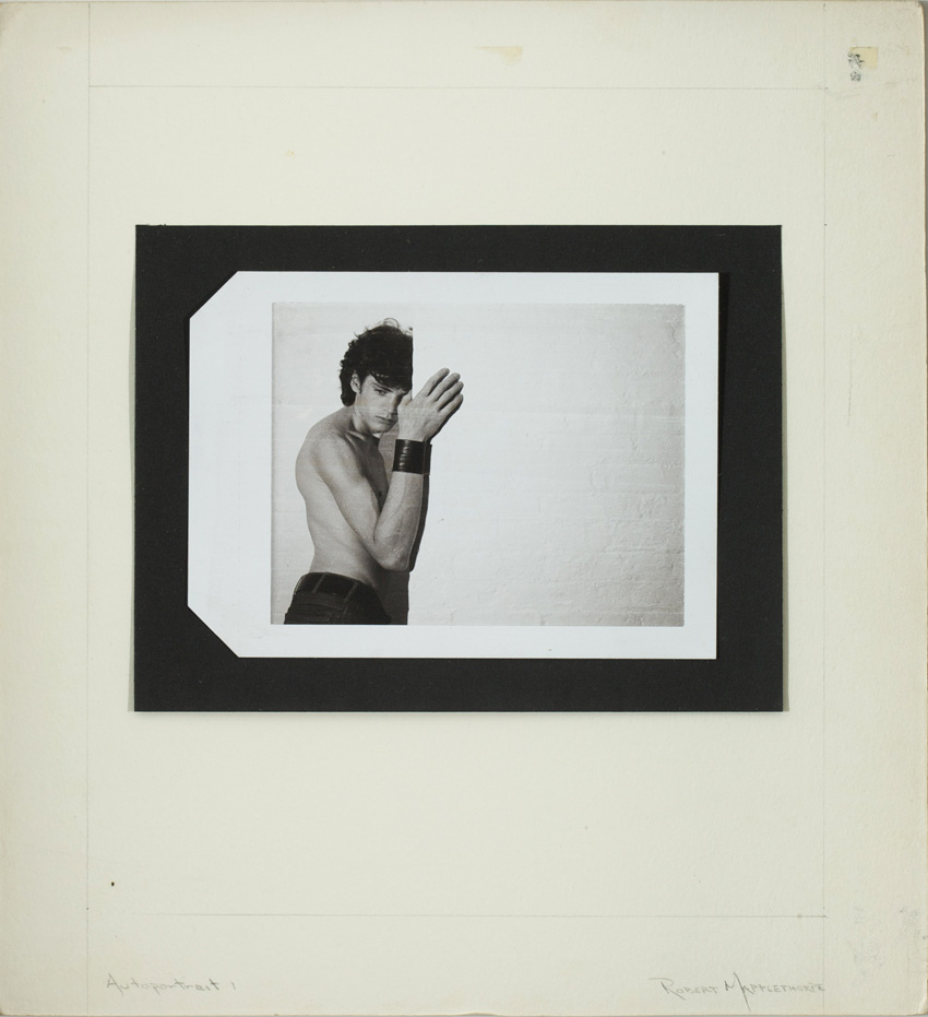 Robert Mapplethorpe,  Autoportrait 1,  c.1974, Polaroid, gift of Jack Shear, Tang Teaching Museum