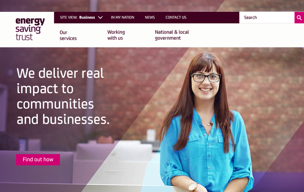 The banner of the Business homepage.