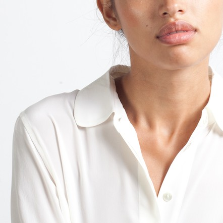 Silk Rounded Collar // Everlane
