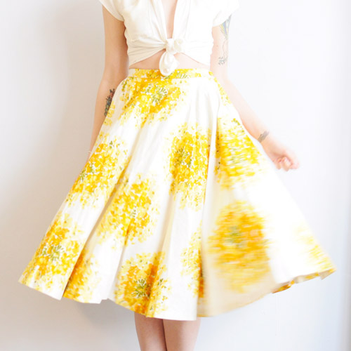 'Honeysuckle' circle skirt  //  Dethrose Vintage