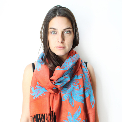 Tropical Lotus Rust Scarf  //  Snoozer Looser