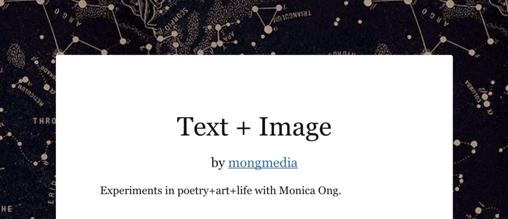 Sign up for Text + Image at TinyLetter