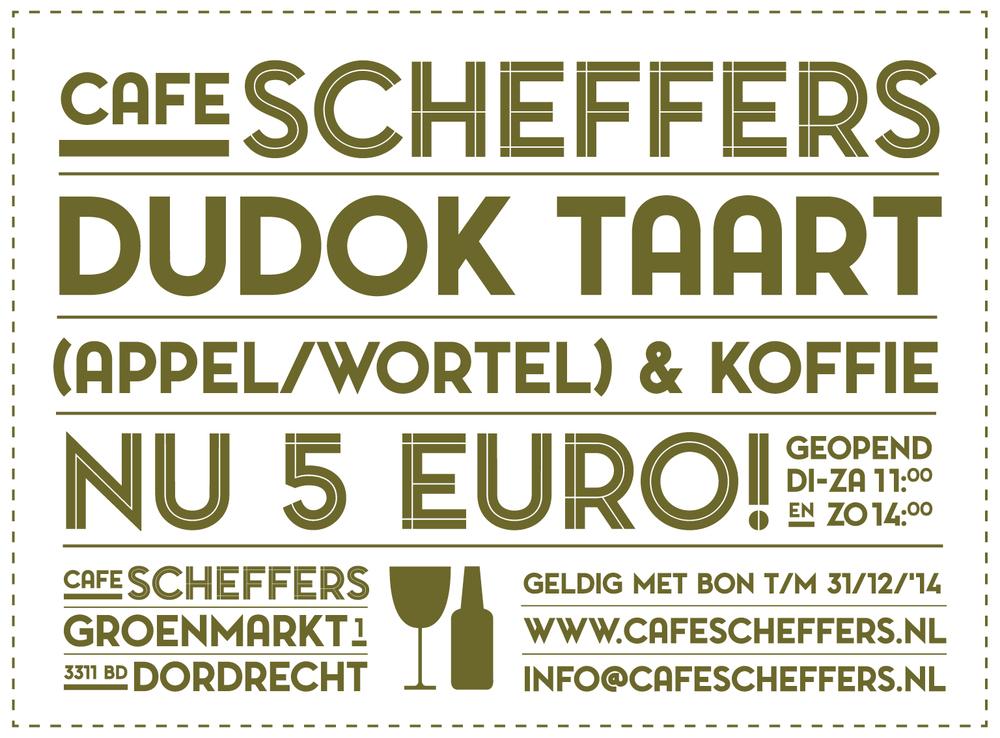 Kortingsbon  Café Scheffers