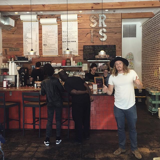 We had breakfast at our friends AMAZING cafe @mysouthernroots in Jacksonville, Florida. We are so lucky to have such talented and sweet buds. Thanks @jpsomethin. We love you guys!