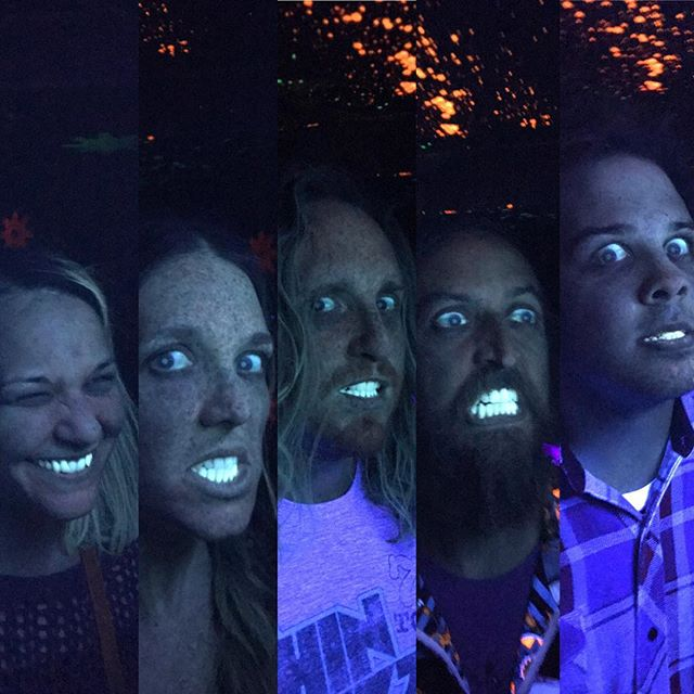 We all got our teeth whitened for the big show tonight at The Southern Cafe And Music Hall in Charlottesville, VA.