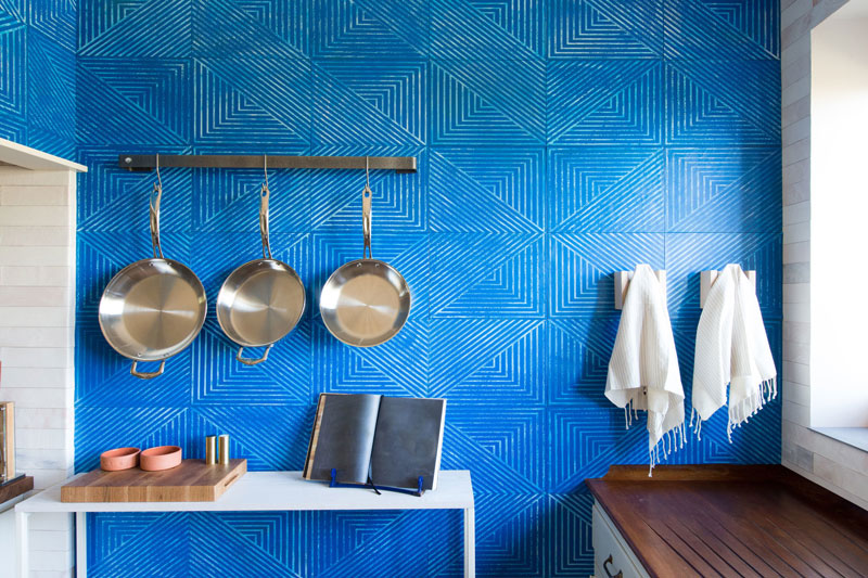 Slanted Hill leather tile shown at the Greystone Mansion in Beverly Hills, CA | Image from SDK Photo