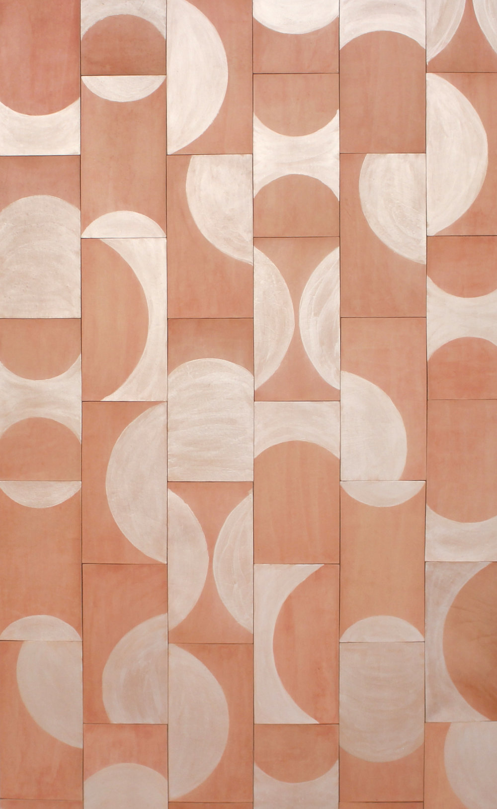 Pivot Leather tile shown in frosted coral