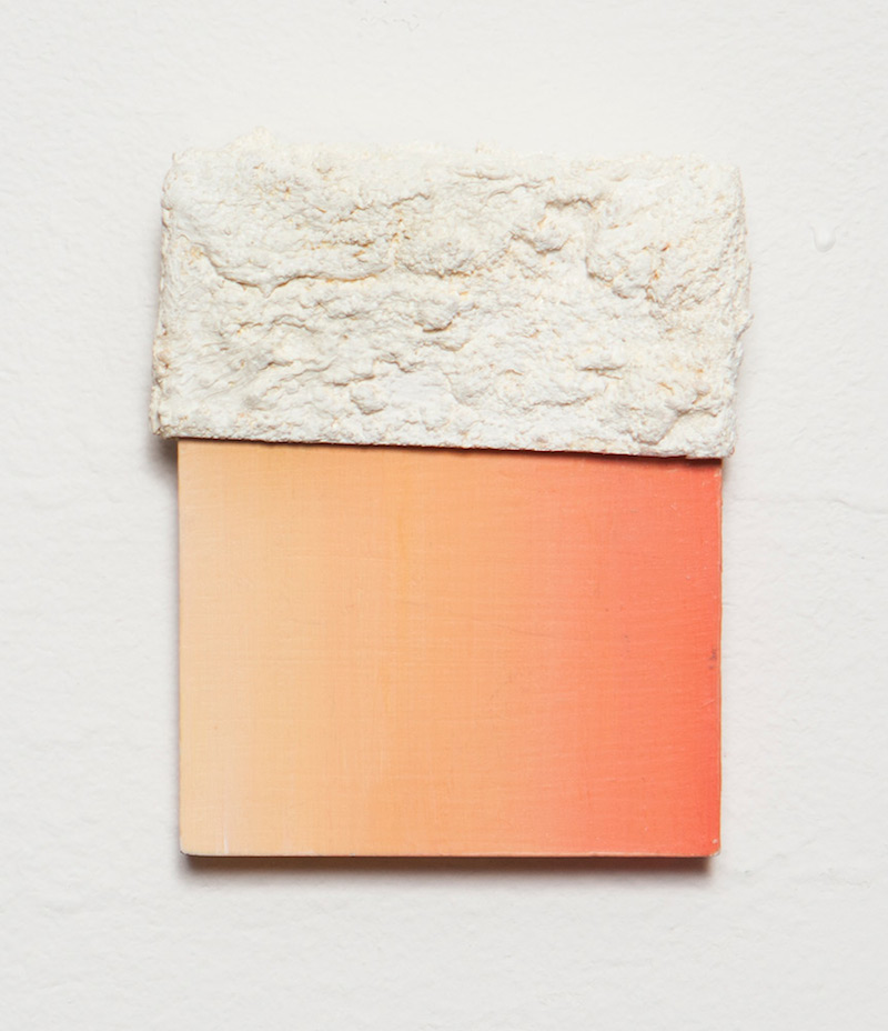 "Untitled Salt by Jill Silverberg | Oil on Panel and Salt | 2"" x 2"""