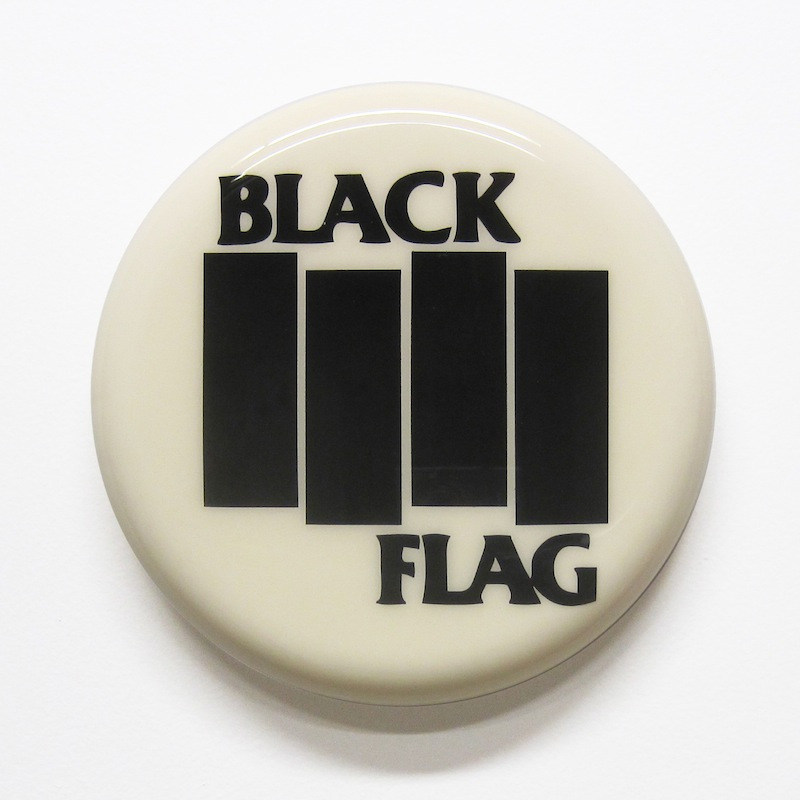 "Black Flag by Jay Kaplan | MDF, Enamel, Vinyl, Resin | 8"" (available individually or as installations)"