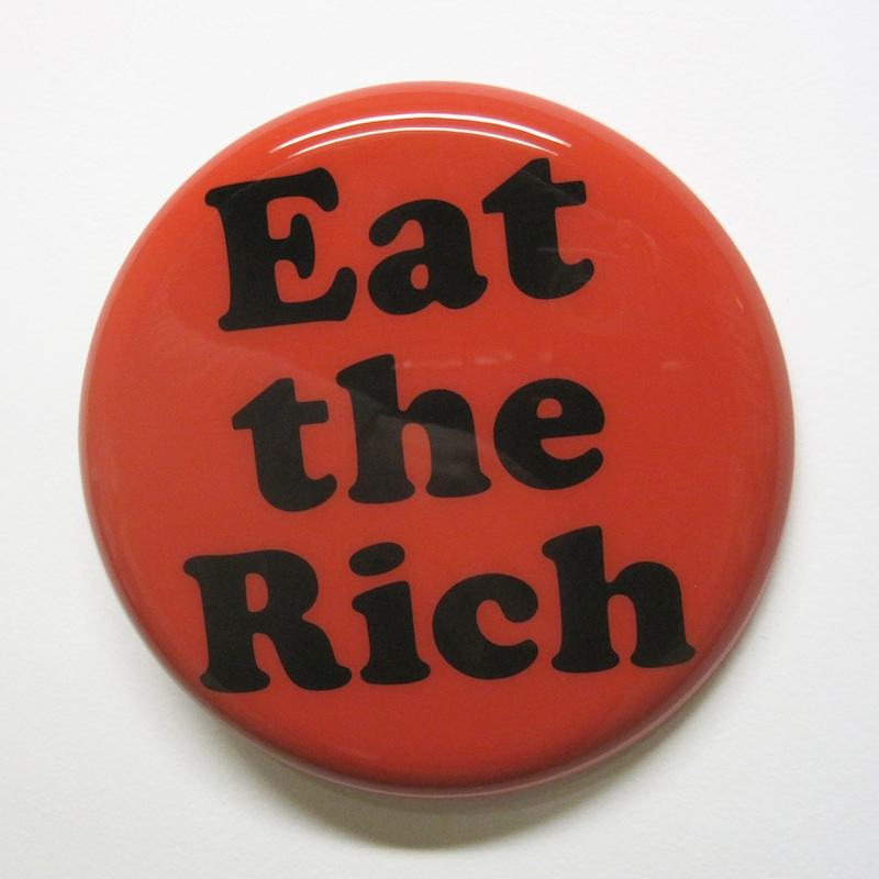 "Eat the Rich by Jay Kaplan | MDF, Enamel, Vinyl, Resin | 8"" (available individually or as installations)"