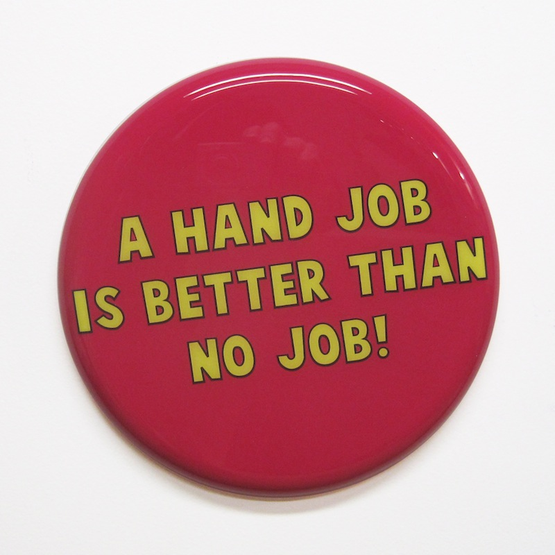 "Hand Job by Jay Kaplan | MDF, Enamel, Vinyl, Resin | 10"" (available individually or as installations)"