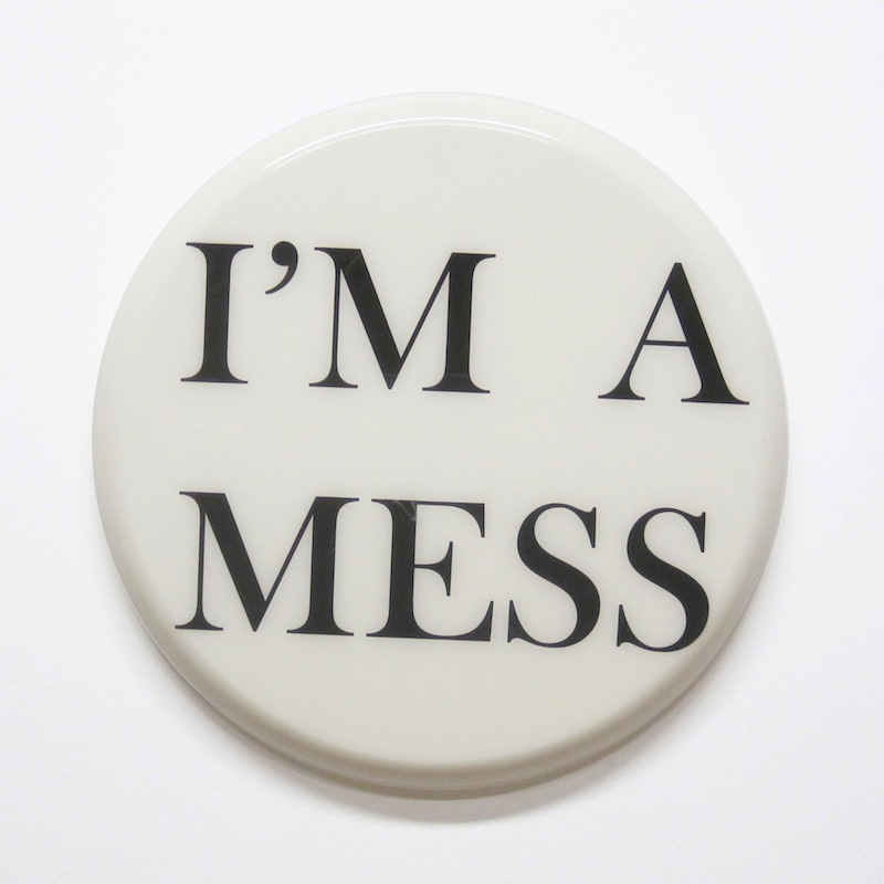 "I'm a Mess by Jay Kaplan | MDF, Enamel, Vinyl, Resin | 10"" (available individually or as installations)"