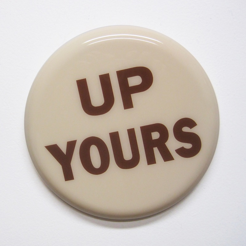 "Up Yours by Jay Kaplan | MDF, Enamel, Vinyl, Resin | 8"" (available individually or as installations)"